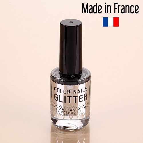 Vernis Paillettes Cosmod n°4 étoile ébène 10 ML Made In France VA05 -