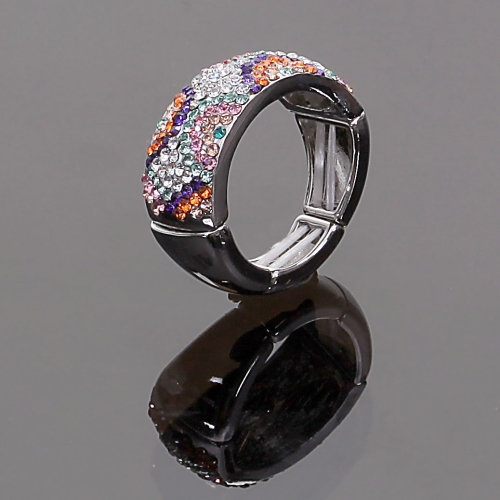 Bague Lilou ajustable Luxe Strass 03B01 -