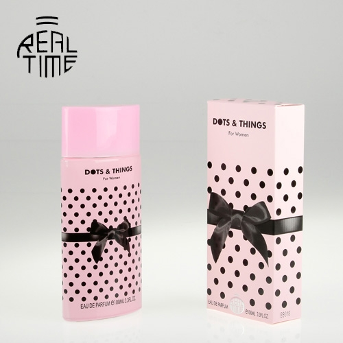 Real Time Eau de parfum pour femme Dots & Things rose - Barbe à papa 100 ml -
