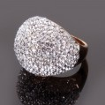 Bague Corona à strass blancs,, taille 60 - 14A09