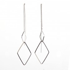 Boucles d'oreilles ultralight,Duo de Losanges Filants,env.7cm long. - 15A06