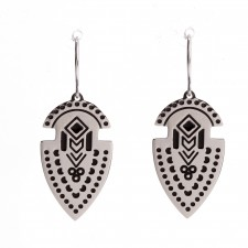 Boucles d'oreilles Acier Inoxydable,Indian Arrow - 23B07