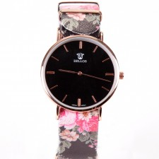 Montre bracelet Love Flowers,40mm,mouvement japonais  - 15A09