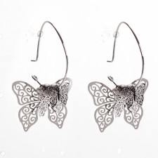 Boucles d'oreilles ultralight,Butterfly,long.env.4.5cm - 24A09