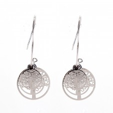 Boucles d'oreilles ultralight,Arbres de Vies,long.env.4.5cm - 24A09