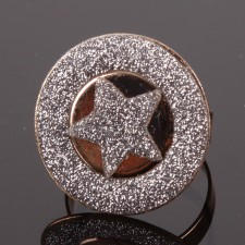 Bague filigranne ajustable,Sherif à paillettes - 18A10